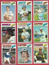 1977 TOPPS BASEBALL U-PICK 8 PICKS $2.00 EX AND BETTER