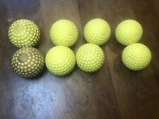 Lot of 8 Jugs Yellow Dimpled Sting-Free Practice Baseballs
