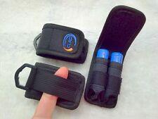1 x Nylon Case Holder Storage Bag For 2 x 18650 Battery belt holster clip hook