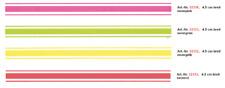 Aufkleber Rallye- Streifen 400  x 4,5 cm, neon-orange!