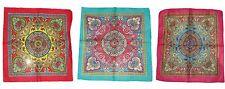 LOTE 12 ( 1 dozen ) 55.9cmx55.9cm ADORNAR motivo Cachemira Mosaico Borde BANDANA