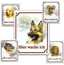 Hunde Schäferhund-emaille-schild-145 X 185 Mm-türschilder-hund-tiere-email-warnschild
