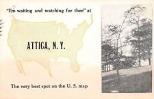 """""""Waiting & Watching for Thee"""" at Attica New York~Best Spot on US Map~1914 PC"""
