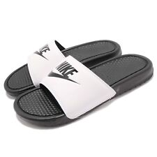 6f82b5e54594a1 Nike Benassi JDI Unisex Slide White Black Branded Footwear 10 UK