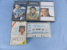 Lot de 5 cassettes audio anciennes MICHEL SARDOU