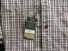 "Mens Wolsey Short Sleeve Purple Black & White Check Shirt - Small Up To 37"" BNWT"