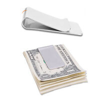 1Pc Silver Slim Money Clip Credit Card Holder Wallet Stainless Steel