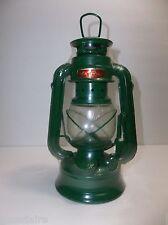 """Vintage Metal Oil Paraffin Lamp LANTERN GREEN 7.75"""" MOON LIGHT"""