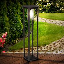 LED Deko Stand Lampe Garten Grundstück Steh Leuchte Park ALU Strahler schwarz