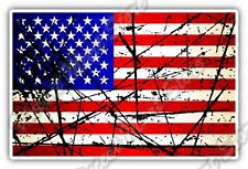 "United States USA Flag Retro Car Bumper Window Vinyl Sticker Decal 5""X3.5"""