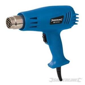 Silverline 1500W Heat Gun Hot Air Gun 500°C 2 Heat Settings New 942941