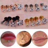1Pc Women Cartilage Piercing Earring Stud Ear Lip Ring Stainless Steel Surprise