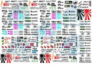 JDM Decal Pack 2 - Waterslide Decals for Hot Wheels & 1:64 scale diecast cars