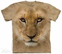 Lion Cub Face T-Shirt - Big Animal Tee - Label U.S 2XL (Fits AUST 3XL / Size 22)