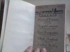 """Marcel Proust   Jalousie """" les oeuvres libres"""" 1921 TBE relié"""