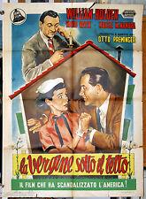 manifesto 2F film THE MOON IS BLUE William Holden D.Niven Otto Preminger 1953