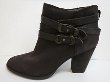 Reba Size 9.5 Brown Leather Ankle Boots New Womens Shoes