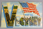WWII VICTORY POST CARD BRITAIN GERMANY UNITED STATES PATRIOTIC RARE !!