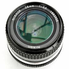 Nikon Nikkor 28mm f/3.5 AI Super Sharp Manual Focus Lens. Exc+. See Test Images