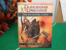 Wizards Dungeons and Dragons 2010 Dark Sun Creature Catalog 1st Print RPG D20