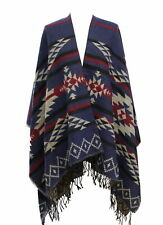 Zac's Alter Ego® Reversible 4 Colour Aztec Print Winter Poncho/ Shawl/ Wrap