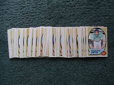 1970 TOPPS FOOTBALL PARTIAL COMPLETE SET LOT, 87-Different w/STARS, ROOKIES, EX