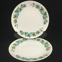 Set of 2 VTG Salad Plates by Noritake Blue Orchard Cookin Serve Fruit 6695 Japan