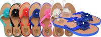 Women's Flower Sandals | Flip Flops | Thong Beach Sandal Sexy Casual Wear Beach
