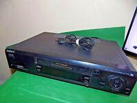 SONY SLV-E720 Video Cassette Recorder VHS Hifi Stereo VCR Black FAULTY SPARES