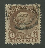 "CANADA #27 USED LARGE QUEEN 2-RING NUMERAL CANCEL ""38"""