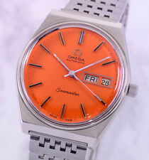VINTAGE OMEGA SEAMASTER AUTO CAL1020 DAY&DATE ORANGE DIAL MEN'S WATCH