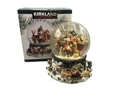 Kirkland Signature Musical Snow Globe Waterglobe Revolving Base Santa Animals