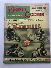 September 1960 England Motor Cycling and Scooters Magazine Matchless Motorcycles