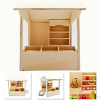 1/12 Dollhouse Miniature Display Grocery Store Stall Shop Shelf Cabinet Counter