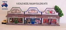 N Scale Country Butcher Bakery Fruit Shops - Model Railway Building Kit - NRCS1