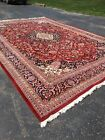 """Vintage Hand Made Indian rug , Red, Measurments: 11'10"""" X 17'9"""""""