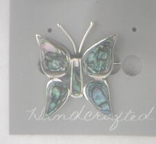 Pin/Brooch Butterfly Abalone Shell Alpaca new