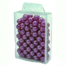 10mm craft pearls beads (x115) Lilac Purple
