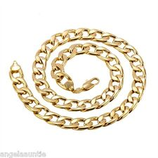 18K Yellow Gold Filled Curb Chain Necklace (N-244)