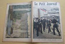 Le petit journal 1897 349 Guillaume II blessé sur son yacht chateau de péterhof