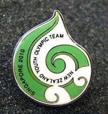 Singapore '10 rare NEW ZEALAND YOG Olympic NOC team pin