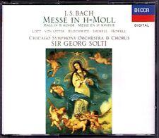 GEORG SOLTI: Bach Messe H mineur BWV 232 Felicity Lott de Otter Blochwitz 2cd 91