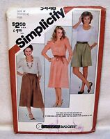 Simplicity Pattern #5448 New UNCUT Misses' Top - Culottes - Skirt Size 10-14