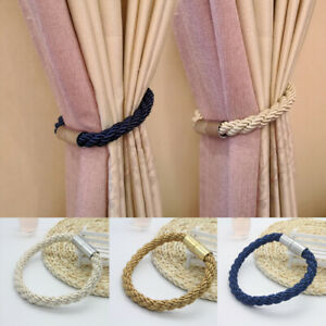 Home Decor Magnetic Curtain Tie Tieback Magnet Window Strap Buckle Holder 1pc