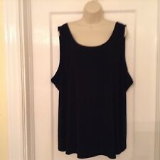 CJ Banks blouse,black short sleeve. Size 3X