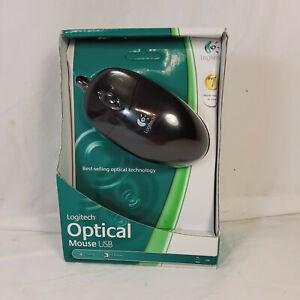 Logitech Black USB Optical Mouse 2-Buttons w/Scroll-Wheel 931369-0403 OEM NEW
