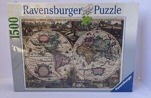 1995 Ravensburger Historic World Map 1500 Piece Jigsaw Puzzle Brand New 162116