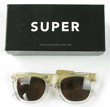 Super Ciccio Crystal Gold Metal Sunglasses Brand New Retail $191
