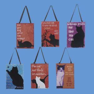 Cat Themed Ornament Plaques