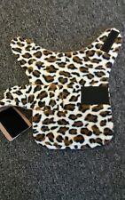 dog coat. fleece jacket .size S. Leopard print design